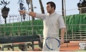 Michael Playing Tennis in GTA V