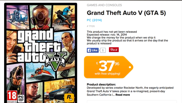 Grand Theft Auto V Possible Release Date