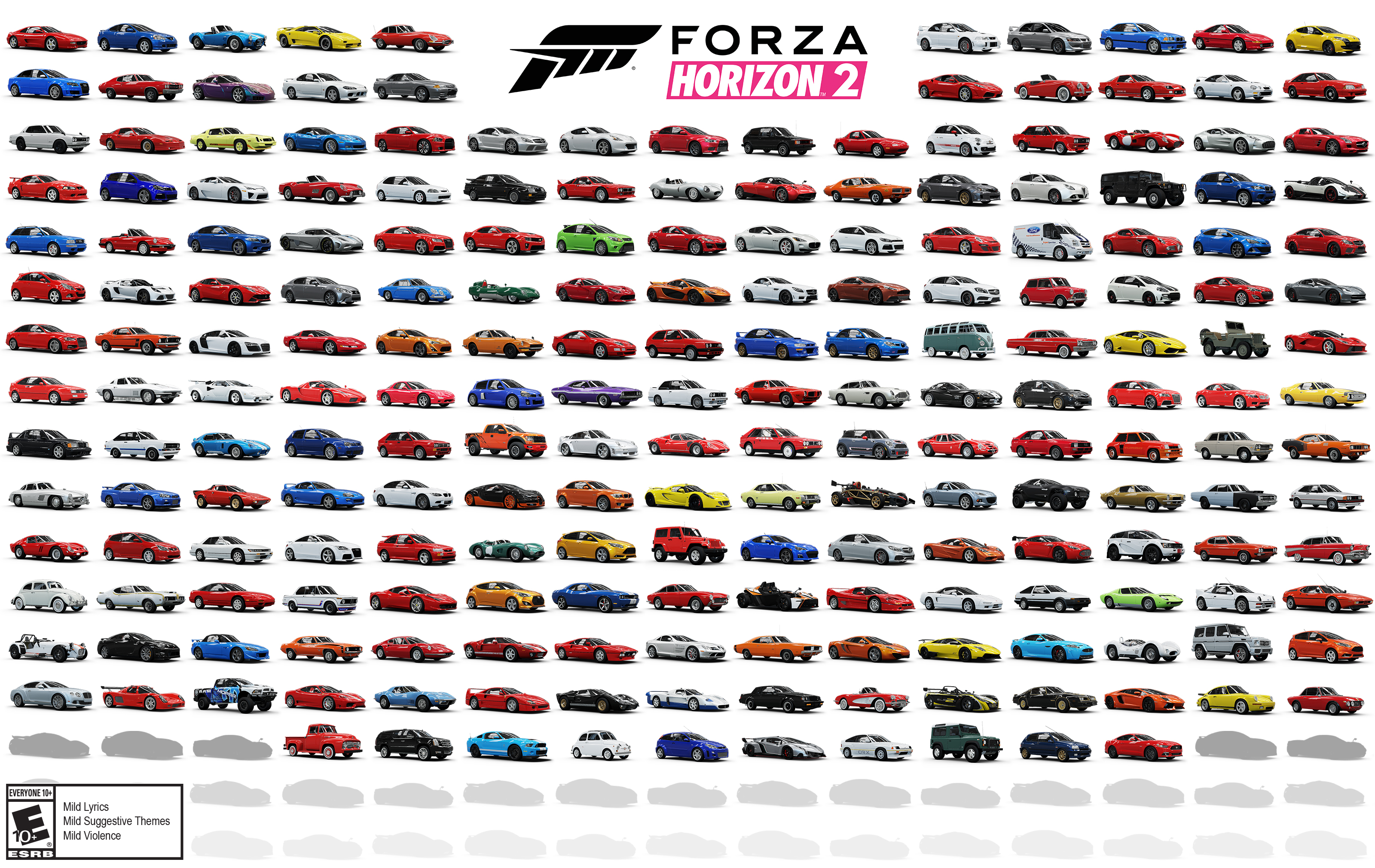 Full Forza Horizon 2 Car List Revealed | Racing Game Central