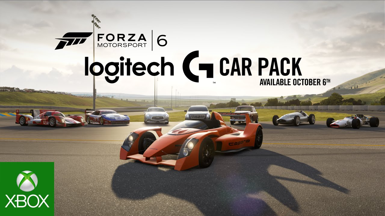 microsoft has released the logitech g car pack for forza. Black Bedroom Furniture Sets. Home Design Ideas